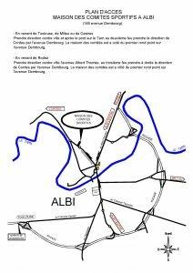Affiche Albi plan